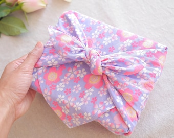 "Sakura Purple Furoshiki 53 x 53cm(20.9"" x 20.9"")   Wrapping Cloth   Reusable Gift Wrapping   Japanese Gift   Furoshiki   HanaBee"