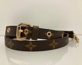 Adjustable Handbag Shoulder Crossbody Strap Leather Strap Gold Clasps Gift For Her