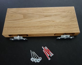 Wall shelf made of oak, wall board, incl. fastening in different sizes