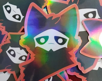 REVISED Holographic Changed Puro Sticker | Hand Drawn Print | Extra Random Sticker With Every Order