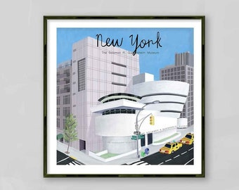 Guggenheim Museum / Solomon R. Guggenheim Museum / New York / New York Wall Art / Guggenheim Wall Art / Guggenheim Poster / Carla Daly Art
