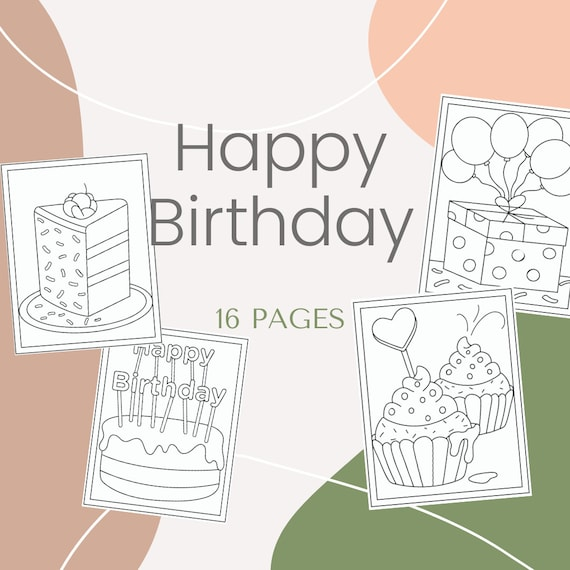 Happy Birthday Printable 16 Coloring Pages