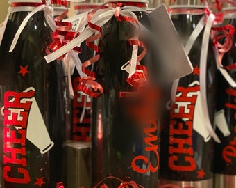 Personalized Cheer Cups, Cheer Water Bottles, Cheer Gifts