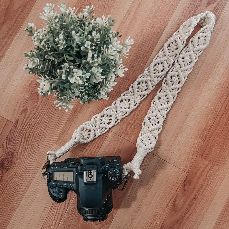 Boho macrame camera strappurse strap for photographers and travelers