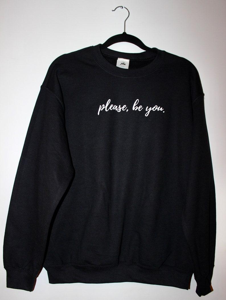 Please Be You Original Crewneck in Black