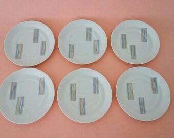 6 saucers by Rosenthal Berlin Halensee - Hans Theo Baumann