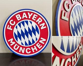 FC Bayern München Wooden Wall Hanging