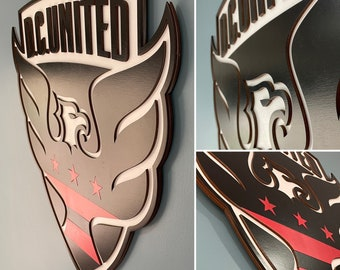 DC United 3D Crest Wooden Wall Hanging