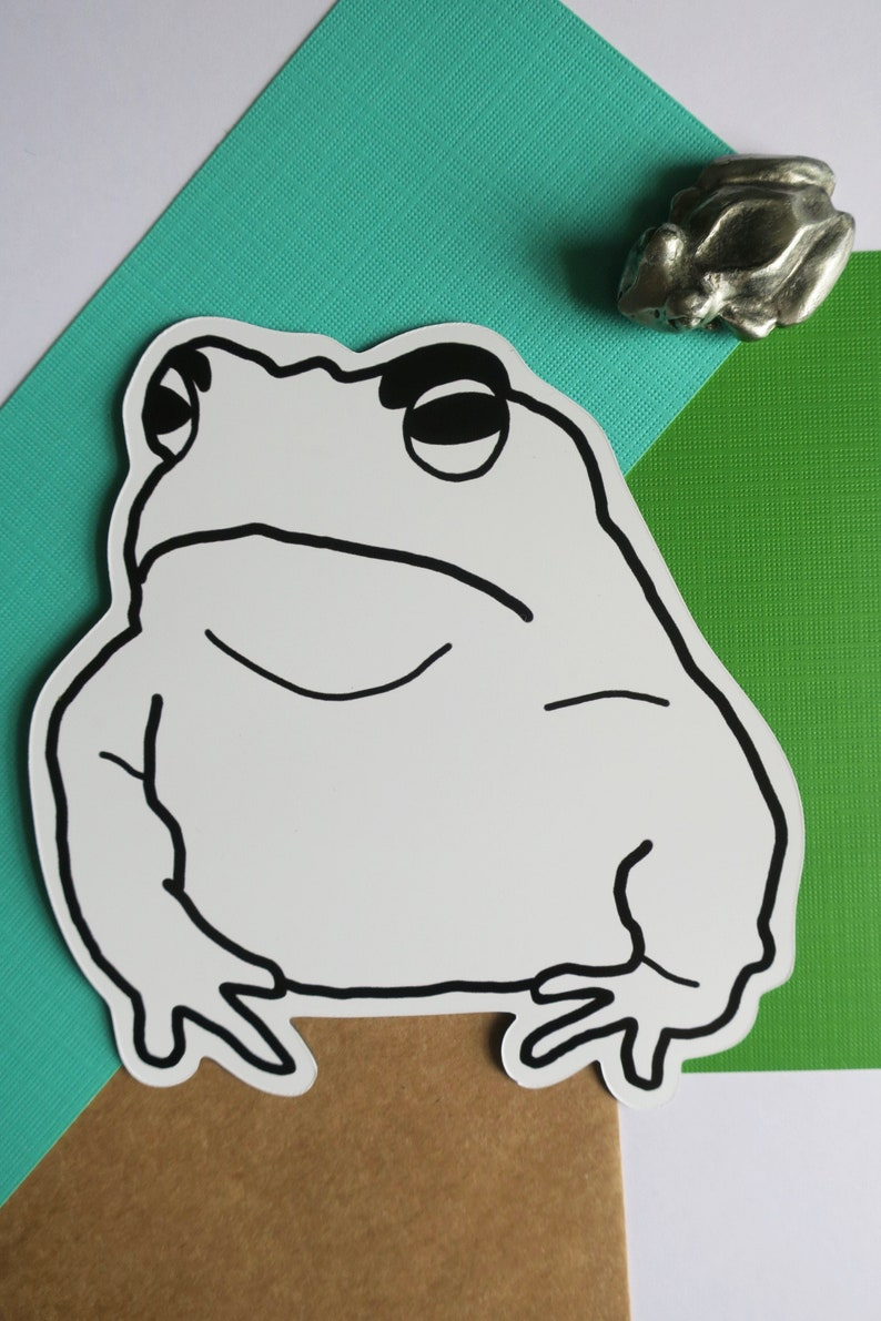 Angry Toad Car Magnet image 1
