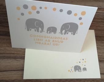 Baby card Irish made