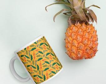 Brazilian yellow glossy mug