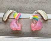 Hearing Aid Charms Rainbow Sparkle Set