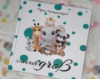 My kindergarten time,Kindergarten album, Photo album, Kita first day,Childminder, Gift, First day of school, I come to kindergarten,