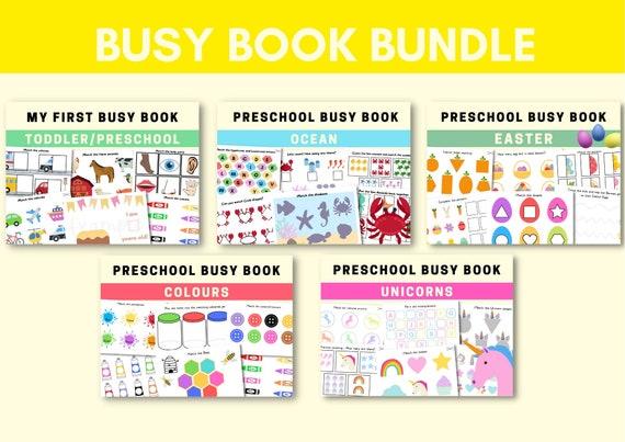 Busy book Bundle Printable Preschool Kindergarten Activity