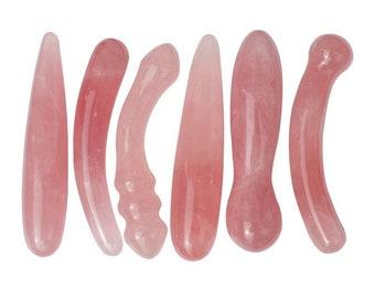 Rose Quartz Yoni Collection Yoni Massagers Natural Gemstone Sex Toys Crystal Phallus Gemstone Dildo Pink Dildos for Women Men Couples Sexual