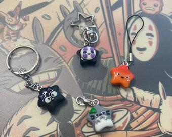 Ghibli Inspired Keychains   Anime Keychains   Star Keychains   Polymer Clay Keychains   Polymer Clay Charms