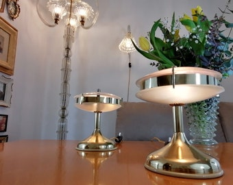 Space Age Pink Table Lamps, 1940s