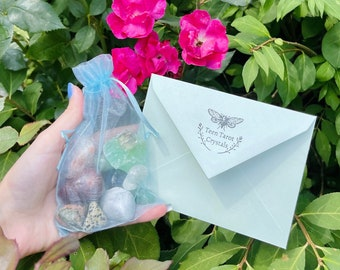 PERSONALIZED Crystal Bag   Crystal Mystery Bag   Custom Real Crystals Bag