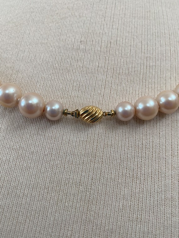 Vintage Marvella Faux Pearl Necklace (29 inches) - image 3