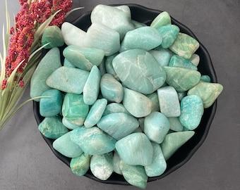 Amazonite Tumbled Stone | Polished Amazonite Stones | Reiki Healing Crystals | Heart Chakra | Clairvoyance, Communication, Clarity, Truth