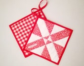 Patchwork potholders - practical and decorative