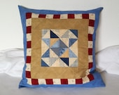 Large patchwork pillow 50 x 50 cm in all colors