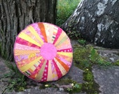 Round pillow - real eye-catcher on sofa and favorite armchair