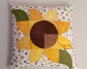 Sunny Yellow Patchwork Pillow