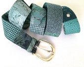 Trendy patchwork belt for every hip!
