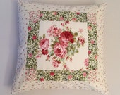 Roses Patchwork Pillow Country House Vintage