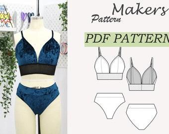 High waisted Panties Sewing Pattern for women| Lingerie pattern| Brief| Shorts|  Bikini bottom|  Pole dance| Exotic dancewear