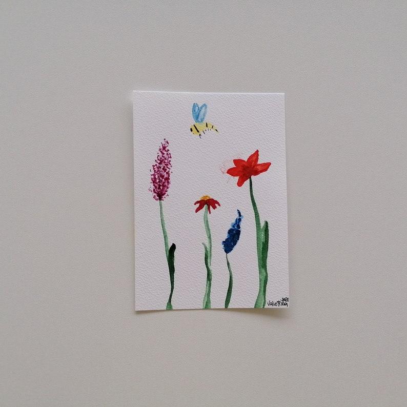 Original artwork watercolor flowers flowers watercolor painting
