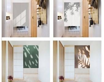 Linen Noren Door Curtain , Noren Panel With Light & Shades, Art Curtain, Long Noren, Custom Doorway curtain,14Patterns