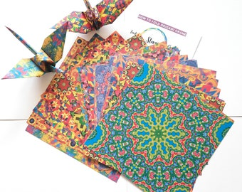 Diy kits for adults,  diy kits for kids, diy kits, origami crane paper, origami diy kit, craft kits, mix pattern, Origami crane gift