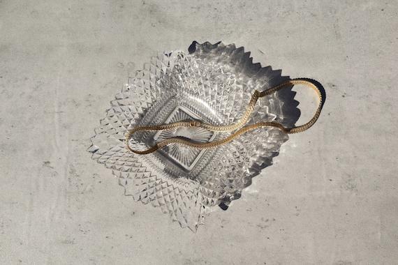 Vintage White and Gold Heinrich Porzellankultur German Porcelain Jewelry Trinket TrayRing DishAshtrayJewelry Bowl Sophie Trinket Dish