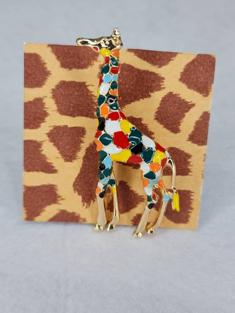 Colorful Giraffe Badge.