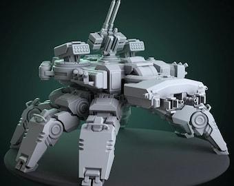 StormGuard Walker | Exosuit, Mecha, Marine | 32mm/28mm SciFi Miniature, D&D, Wargames, 40k, Shadowrun, Starfinder | Matstation.com