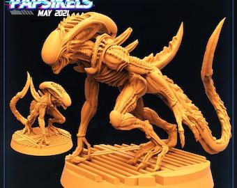 Xeno Brood Alien Deadly Shredder | Cyberpunk, Monster | Scifi Miniature, D&D, Wargames, Starfinder, Shadowrun, Stargrave | Papsikels