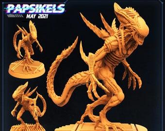Xeno Brood Alien Deadly Impaler | Cyberpunk, Monster | Scifi Miniature, D&D, Wargames, Starfinder, Shadowrun, Stargrave | Papsikels