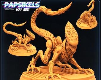 Xeno Brood Alien Lethal Stalker | Cyberpunk, Monster | Scifi Miniature, D&D, Wargames, Starfinder, Shadowrun, Stargrave | Papsikels