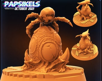 Xeno Brood Alien Egg with Creeper Guard | Cyberpunk, Monster | Scifi Miniature, D&D, Wargames, Starfinder, Shadowrun, Stargrave | Papsikels