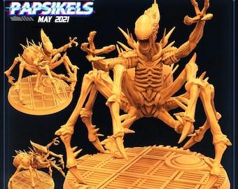 Xeno Brood Alien Worst Nightmare | Cyberpunk, Monster | Scifi Miniature, D&D, Wargames, Starfinder, Shadowrun, Stargrave | Papsikels