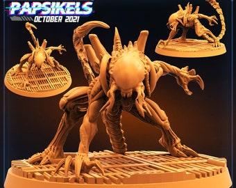 Gigerian Skullhunter Hybrid F | Cyberpunk, Monster | Scifi Miniature, D&D, Wargames, Starfinder, Shadowrun, Stargrave | Papsikels