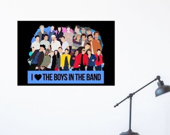 Boys in the Band Mount Rushmore of Boy Bands Poster Print   Backstreet Boys *NSYNC 98 Degrees NKOTB One Direction Jonas Brothers