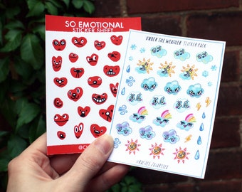 Under The Weather/So Emotional - sticker sheets