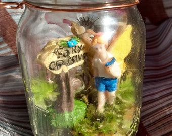 1 Extra tiny glass fairy girl MTO in your choice of colors