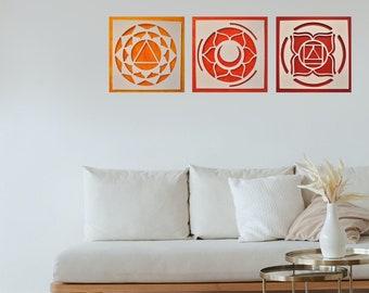 Chakras Mandala Collage