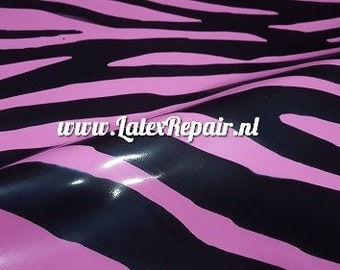 Latex clothing Zebra round pasties in Bubblegum Pink and black or any colour  Lingerie