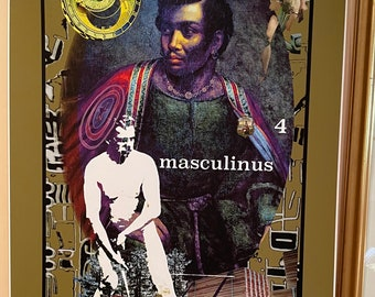 Signed Art Poster of Visionary Dance Oracle Card 4. Masculinus