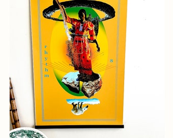 Signed Art Poster: Visionary Dance Oracle Card 8. Rhythm